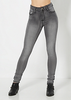 Gray Sandblasted Jegging