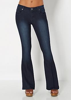 Retro Flared Jean in Short