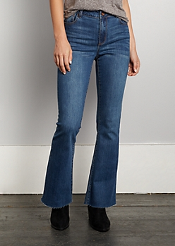 Vintage Raw Edge High Rise Flare Jean in Regular