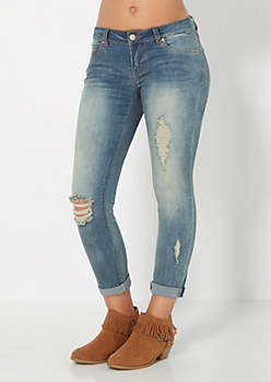 Ripped & Cuffed Skinny Jean by Wild Blue x Sadie Robertson™