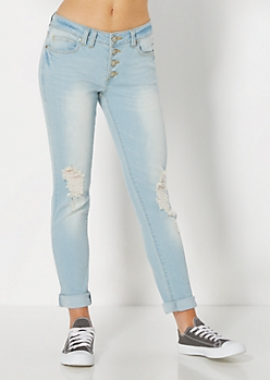 Faded Cropped Skinny Jean by Wild Blue x Sadie Robertson™