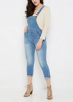 Cropped Jean Overall By Sadie Robertson X Wild Blue