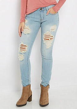 Destroyed Low Rise Jegging