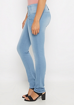 Light Washed High Waist Slimmer Skinny Jean