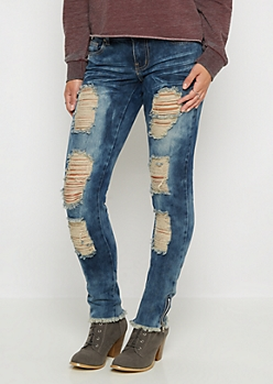 Flex Shredded Holes Baked Jegging