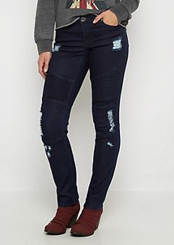 Flex Ripped Moto Skinny Jean in Curvy