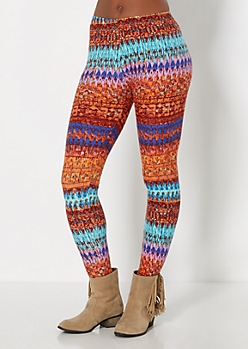 Digital Tribal Brushed Legging