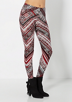 Brushed Geo Chevron High Waist Legging