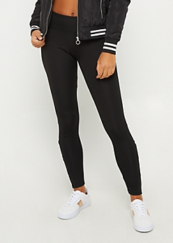 Black Mesh Lattice Ankle Legging