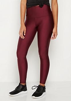 Burgundy Shimmer Legging