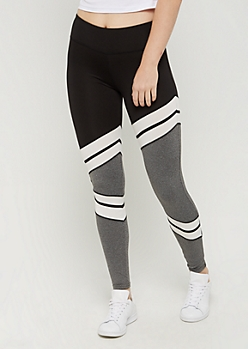 Mesh Striped Color Block Legging