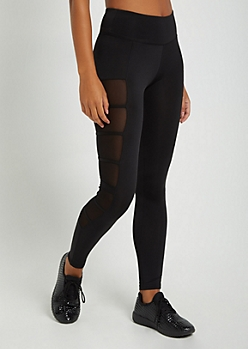 Strappy Mesh Side Legging