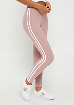 Pink Soft Brushed Varsity Legging