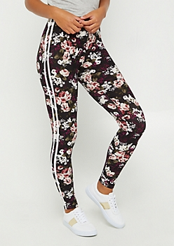 Floral Soft Brushed Varsity Legging