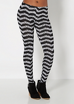 Black Ditzy Daisy Legging