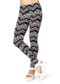 Daisy Chevron Legging