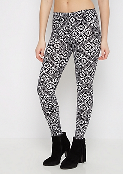 Black Geo Aztec Legging