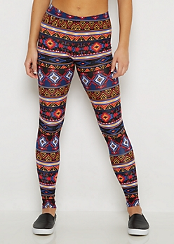 Southwest Sunset Soft Knit Legging