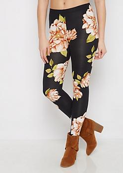 Pink & Black Floral Legging