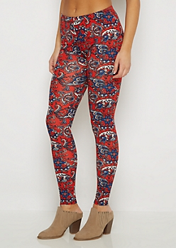 Paisley Folklore Soft Knit Legging