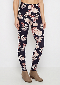 Pink Rose Soft Knit Legging
