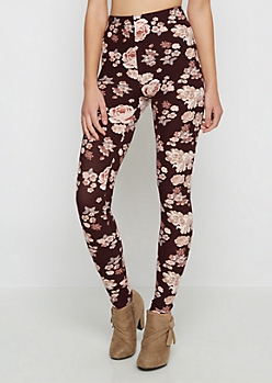 Purple Rose Soft Knit Legging