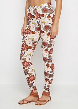 Bohemian Flower Soft Brushed Legging