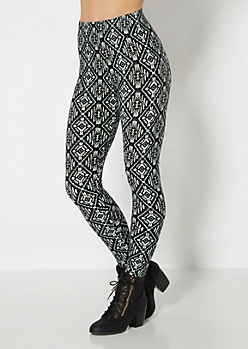 Tribal Micro Print Brushed Legging