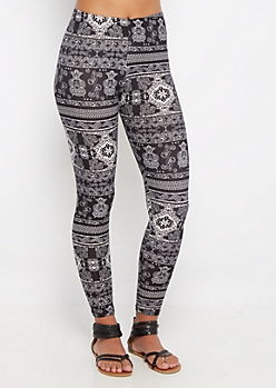 Boho Owl Soft Brushed Legging