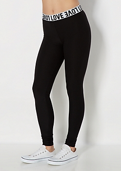Love Band Soft Brushed Legging