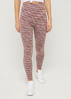 Pink Space Dye High Rise Legging