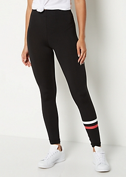 Red Stripe High Rise Soft Knit Legging