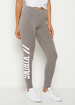 Vibing High Rise Soft Knit Legging