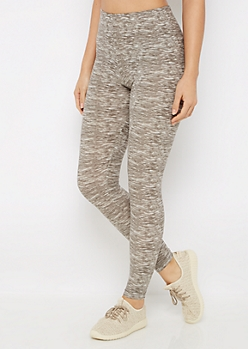 Gray Space Dye Soft Brushed Legging
