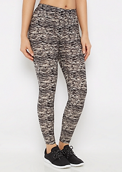 Charcoal Space Dye Soft Brushed Legging