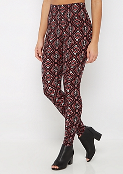 Tribal Diamond Soft Brushed Legging