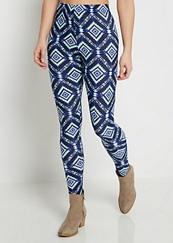 Jagged Aztec Soft Knit Legging