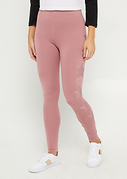 Pink Foiled Star High Rise Legging