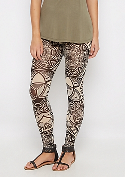 Batik Sheer Mesh Legging