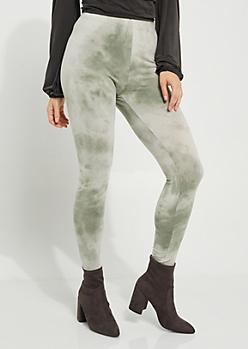 Olive Tie-Dye High-Rise Legging