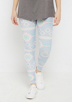 Pastel Aztec Soft Brushed Legging