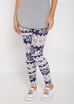 Folklore Elephant Soft Brushed Legging