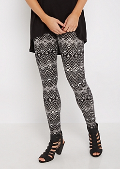 Chevron Aztec Soft Brushed Legging