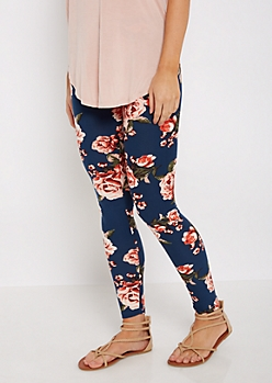 Blurred Rose Soft Brushed Legging