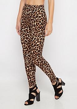 Cheetah Print Brushed Legging