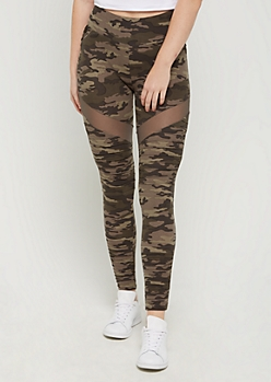 Camo Mesh Moto High Rise Legging