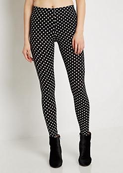 Polka Dot Soft Knit Legging