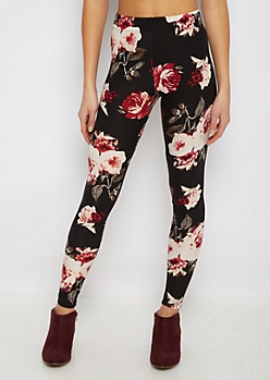 Red Rose Soft Knit Legging