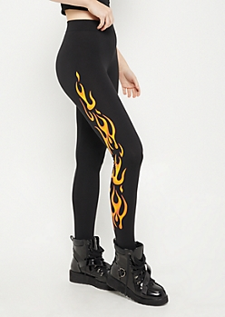 Black Flame High Rise Soft Brushed Legging