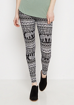 Tribal Paisley Soft Knit Legging